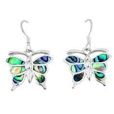 925 silver green abalone paua seashell butterfly earrings jewelry a55577 c14235