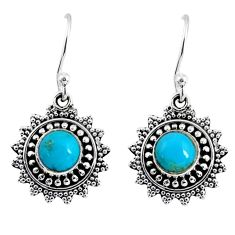 925 silver 2.33cts green arizona mohave turquoise dangle earrings jewelry r55229