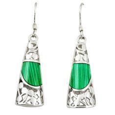 925 silver green malachite (pilots stone) dangle earrings jewelry c11745
