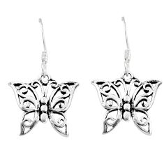 925 silver 1.89gms indonesian bali style solid butterfly earrings jewelry c20916