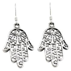 925 silver indonesian bali style solid hand of god hamsa earrings jewelry c20308