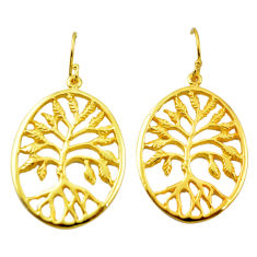925 silver indonesian bali style solid rose gold tree of life earrings c20479