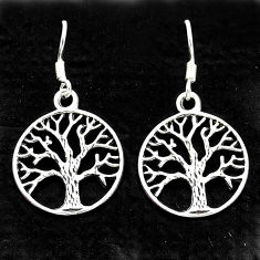 925 silver 3.48gms indonesian bali style solid tree of life earrings t6274