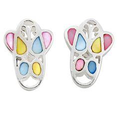 925 silver multi color blister pearl enamel dangle earrings a69658 c14380