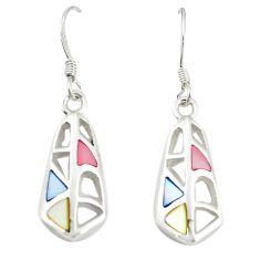 925 silver multi color blister pearl enamel dangle earrings a77472 c14255