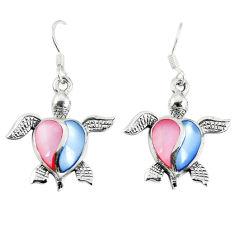 925 silver multi color blister pearl enamel tortoise earrings a67799 c14249