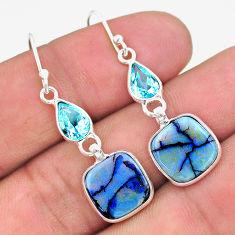 925 silver 6.94cts multi color sterling opal topaz dangle earrings t24788