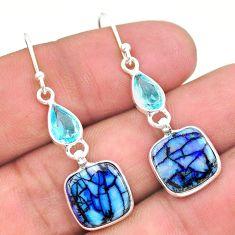 925 silver 6.81cts multi color sterling opal topaz dangle earrings t24800