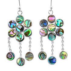 925 silver 11.66cts natural abalone paua seashell chandelier earrings t12365