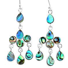 925 silver 10.28cts natural abalone paua seashell chandelier earrings t4672