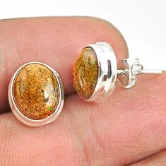925 silver 7.57cts natural black honduran matrix opal stud earrings r76104