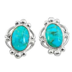 925 silver 6.39cts natural blue kingman turquoise dangle earrings jewelry c10583