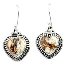 925 silver 8.55cts natural bronze wild horse magnesite dangle earrings t41512