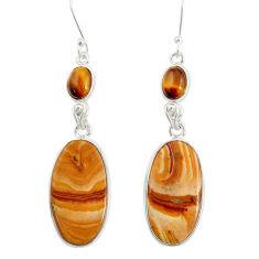 cts natural brown snakeskin jasper dangle earrings d39564