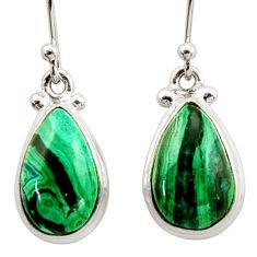 925 silver 11.57cts natural green azurite malachite dangle earrings r34758
