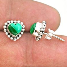 925 silver 2.49cts natural green malachite (pilot's stone) stud earrings t41589