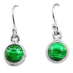 925 silver 3.62cts natural malachite (pilot's stone) dangle earrings r26733