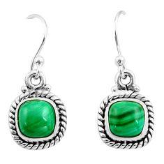 925 silver 5.13cts natural malachite (pilot's stone) dangle earrings r26737