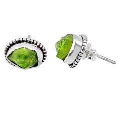 925 silver 8.12cts natural raw peridot crystal dangle earrings r66016