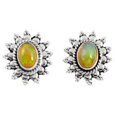 925 silver 3.51cts natural multi color ethiopian opal dangle earrings r55317