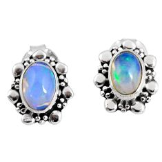 925 silver 2.67cts natural multi color ethiopian opal dangle earrings r55320