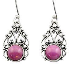 925 silver 5.90cts natural purple phosphosiderite (hope stone) earrings d40866
