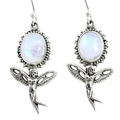 925 silver 9.39cts natural rainbow moonstone angel wings fairy earrings r66504