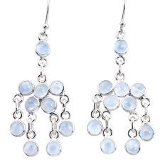925 silver 13.15cts natural rainbow moonstone chandelier earrings jewelry r35799