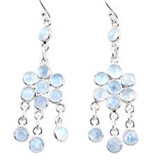 925 silver 13.70cts natural rainbow moonstone chandelier earrings r35614