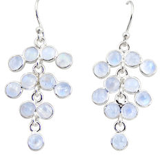 925 silver 10.08cts natural rainbow moonstone chandelier earrings r35636