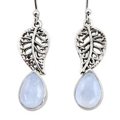 925 silver 4.40cts natural rainbow moonstone deltoid leaf earrings r48125