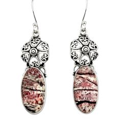 925 silver 16.87cts natural sonoran dendritic rhyolite dangle earrings d39633