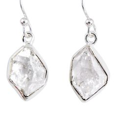 925 silver 9.86cts natural white herkimer diamond dangle earrings jewelry r55476
