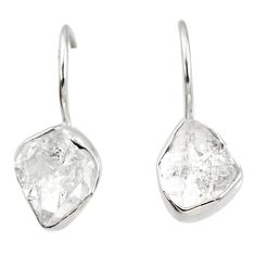 925 silver 8.56cts natural white herkimer diamond dangle earrings jewelry r69604