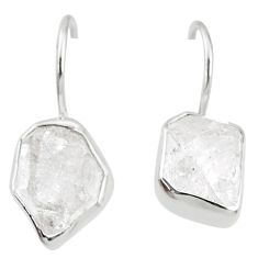 925 silver 9.44cts natural white herkimer diamond dangle earrings jewelry r69613
