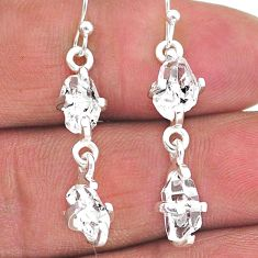 925 silver 7.96cts natural white herkimer diamond dangle earrings jewelry t14443