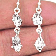 925 silver 7.70cts natural white herkimer diamond dangle earrings jewelry t14459