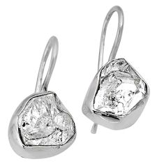 925 silver 11.07cts natural white herkimer diamond dangle earrings r61511
