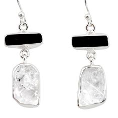925 silver 19.23cts natural white herkimer diamond earrings jewelry r38368