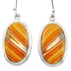 cts natural yellow snakeskin jasper dangle earrings d39964