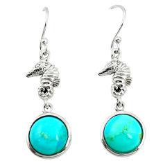 925 silver southwestern fine blue turquoise dangle earrings jewelry c10570
