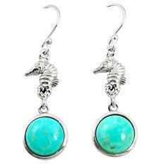 925 silver southwestern fine blue turquoise dangle earrings jewelry c10573
