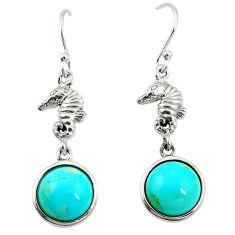 925 silver southwestern fine blue turquoise dangle earrings jewelry c10580