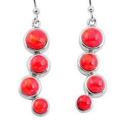 925 silver southwestern red copper turquoise dangle earrings jewelry c10563
