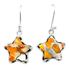 925 silver 8.49cts spiny oyster arizona turquoise star handmade earrings t50636