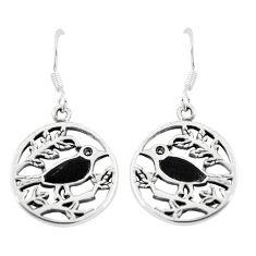 925 sterling silver 3.85gms black onyx enamel birds earrings a91923 c14219