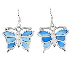 925 sterling silver blue pearl enamel butterfly earrings jewelry a49648 c14323