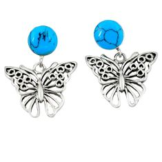 925 sterling silver fine blue turquoise butterfly earrings jewelry c11690