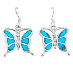 925 sterling silver fine blue turquoise enamel butterfly earrings a49680 c14336