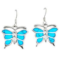 925 sterling silver fine blue turquoise enamel butterfly earrings a74748 c14326